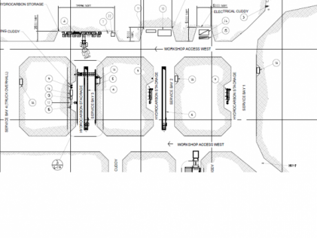 340 Level Underground Workshop Facility Wilshaw